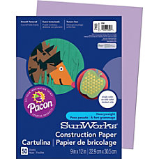 Pacon Sunworks Groundwood Construction Paper 9