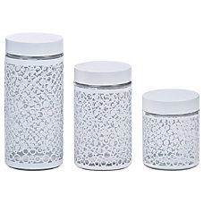 PURELIFE 3 Piece Glass Canister Set