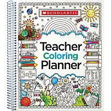 Teachers Friend Coloring Planner 9 x