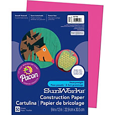 SunWorks 9103 Groundwood Construction Paper 12