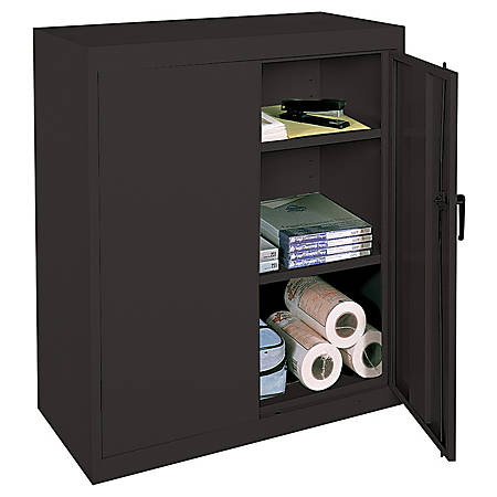 Realspace 42 Steel Storage Cabinet With - Realspace 42 Steel Storage Cabinet With 2 Adjustable Shelves 42 H