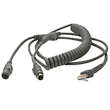 Zebra Keyboard Wedge Coiled Cable