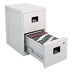 "SentrySafe® FIRE-SAFE® 2-Drawer Vertical File Cabinet, 28""H x 17 1/4""W x 23 1/4""D, Gray"