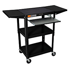 Luxor Adjustable AudioVisual Cart With 2