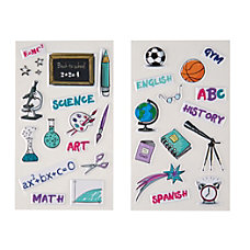 Divoga Sticker Sheets School Subjects Assorted