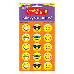 TREND Stinky Stickers Emoji Cheer Orange