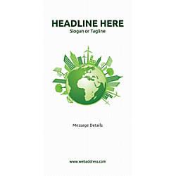 Custom Vertical Banner Green World