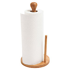 Baumgartens Bamboo Paper Towel Holder 14