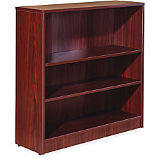 Lorell Essentials Series Mahogany Laminate Bookcase