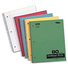 TOPS 1 Subject Kraft Notebook 80