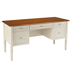 realspace shore collection executive double pedestal computer desk
