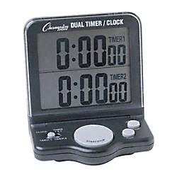 Champion Sport Dual Display Timer Black