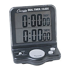 Champion Sport Dual Display Timer Black