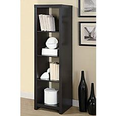 Monarch Specialties 4 Cube Divider Bookcase