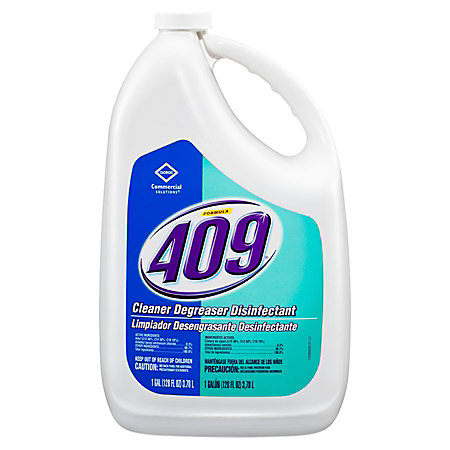 Clorox 409 cleaner degreaser disinfectant 128 oz refill for Degreaser for cement floor