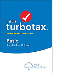 TurboTax Basic Fed 2016 Mac Download
