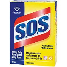 SOS Steel Wool Soap Pad 15