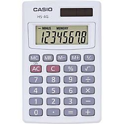 Casio Solar Mini Handheld Calculator HS4G
