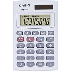 Casio Solar Mini Handheld Calculator HS4G