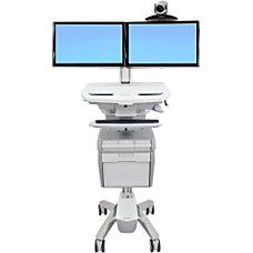 Ergotron StyleView Telepresence Cart Dual Monitor