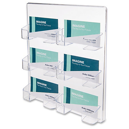 Deflect o wall mount business card holder acrylic 1 each for Business card office depot