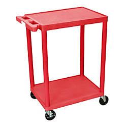 Luxor 2 Shelf Plastic Utility Cart