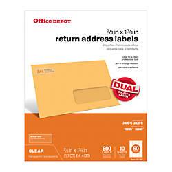 Office Depot Brand Clear InkjetLaser Address
