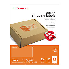 Office Depot Brand Clear InkjetLaser Address