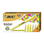 BIC Brite Liner Highlighters Yellow Box
