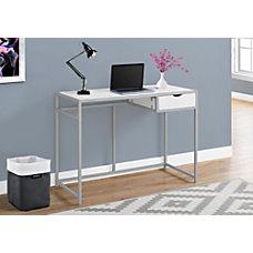 Monarch Specialties Metal Computer Desk SilverWhite