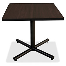 Lorell Hospitality Espresso Laminate Square Tabletop