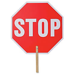 Tatco Handheld Stop Sign 1 Each