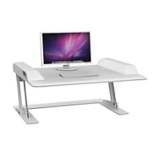 Safco Merge Sit Stand Workstation White