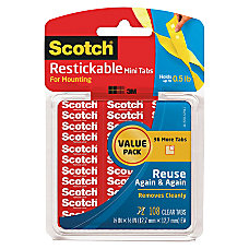 Scotch Restickable Tabs Mini 12 x