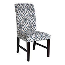 Powell Home Fashions Parson Chair BlueEspresso