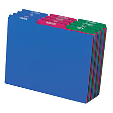 Pendaflex Poly File Guide Jan Dec
