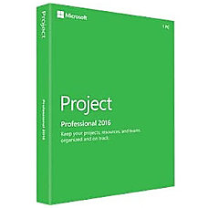 Microsoft Project 2016 Professional Box Pack