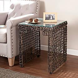 Southern Enterprises Loni Woven End Table