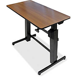 Ergotron Workfit D Sit Stand Desk Walnut By Office Depot