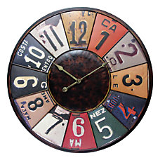 Infinity Instruments Time Travels Wall Clock