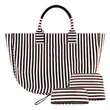Orbit 3 Piece Striped Tote Set