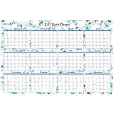 Blue Sky Wall Planner Lindley Laminated