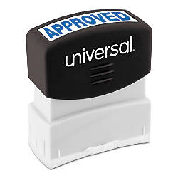 Universal Pre Inked Message Stamp Approved