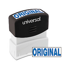 Universal Pre Inked Message Stamp Original