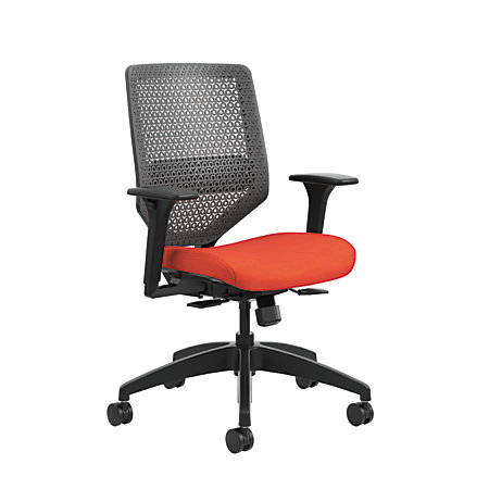 HON Solve Seating Mid Back Task Chair BlackRed By Office Depot OfficeMax