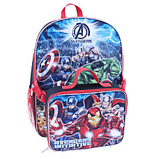 Backpack With Lunch Kit Marvel Boys