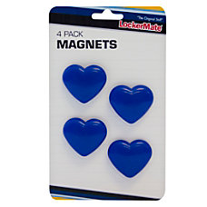 LockerMate Magnets Blue Hearts Pack Of