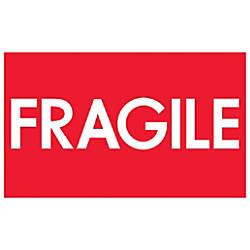 Tape Logic Preprinted Labels Fragile High