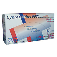 Unimed Cypress Textured Latex Examination Gloves