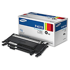 Samsung CLT P407B Black Toner Cartridges